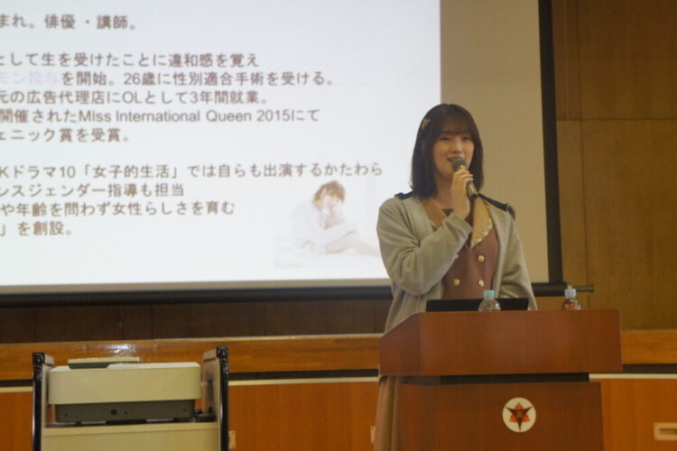 人権教室研修会(2年生対象) 講師:西原さつきさん